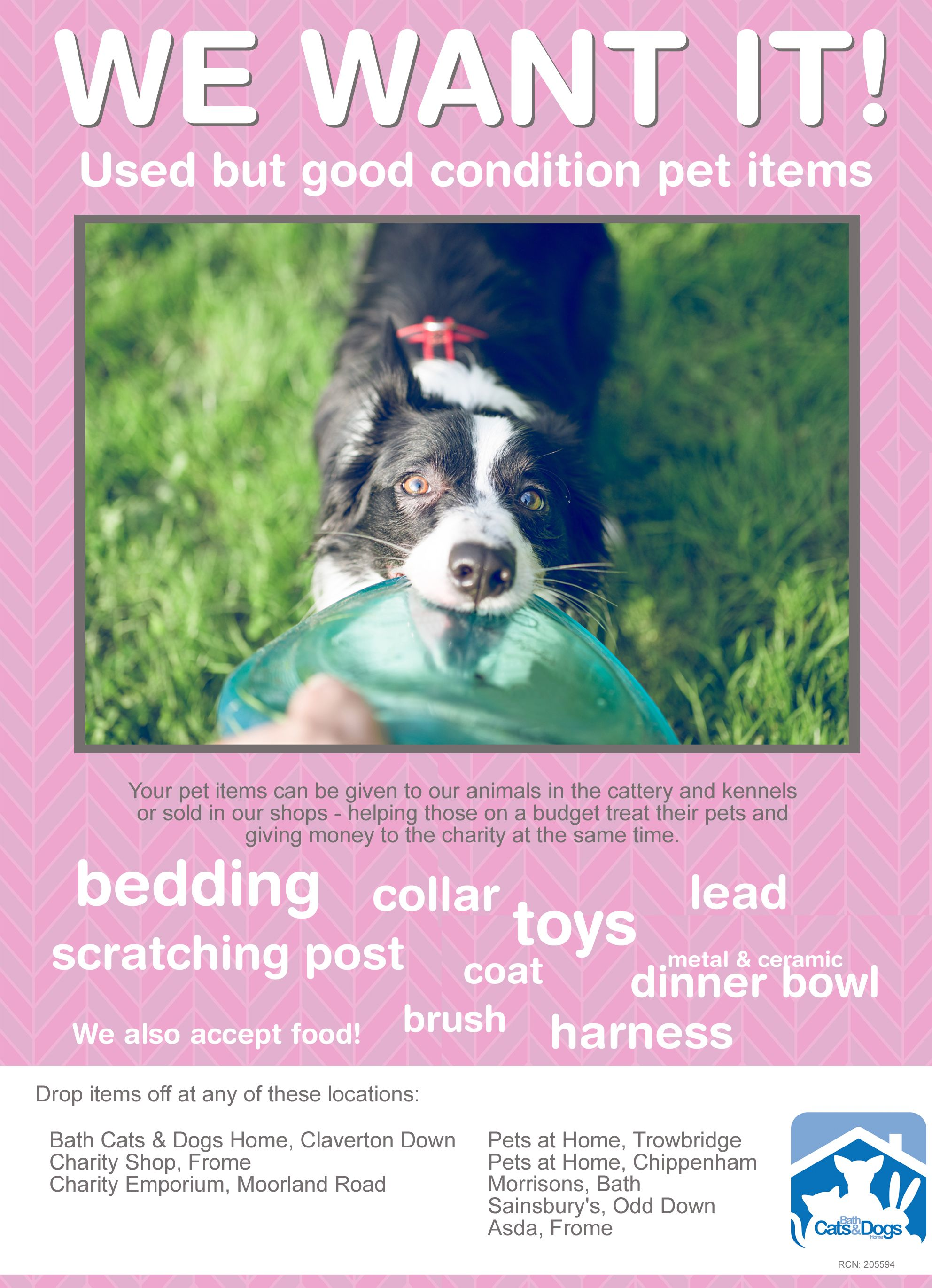 Poster Asking For Donation Of Pet Items Pets Cattery Your Pet