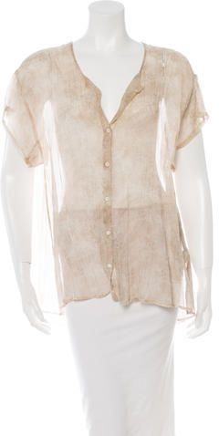 girl. by Band of Outsiders Silk Button-Up Top