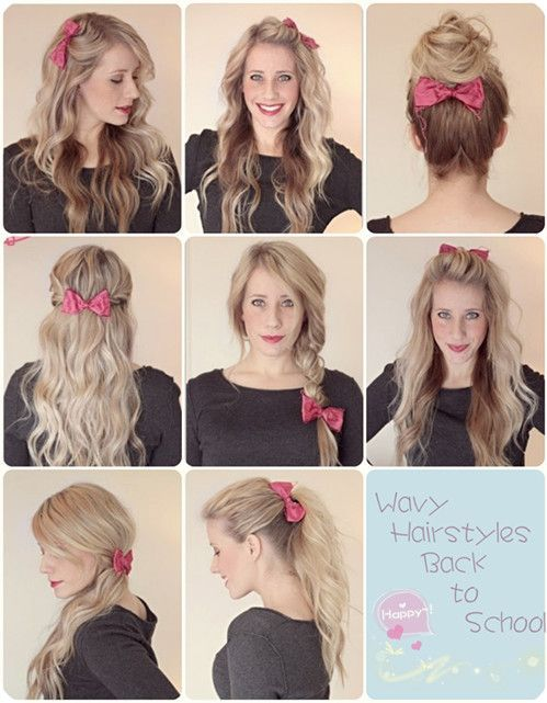 Girls Wavy Hair Style Fashion Style Photos Kfoods Com Hair Styles Bow Hairstyle Ombre Hair