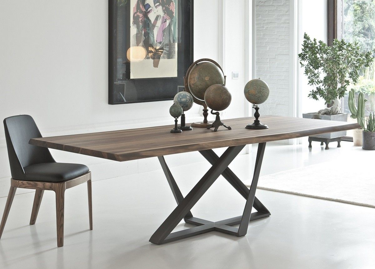 Table De Repas Extensible Sur Pied Central Et Allonge Integree