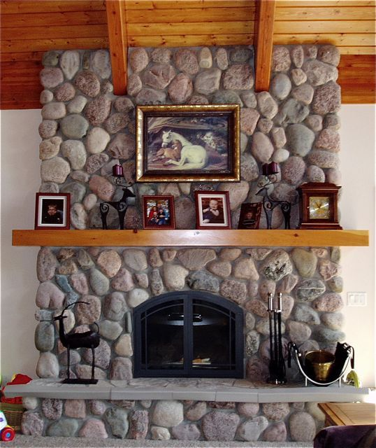 Fieldstone Fireplace Around The House And Garden One