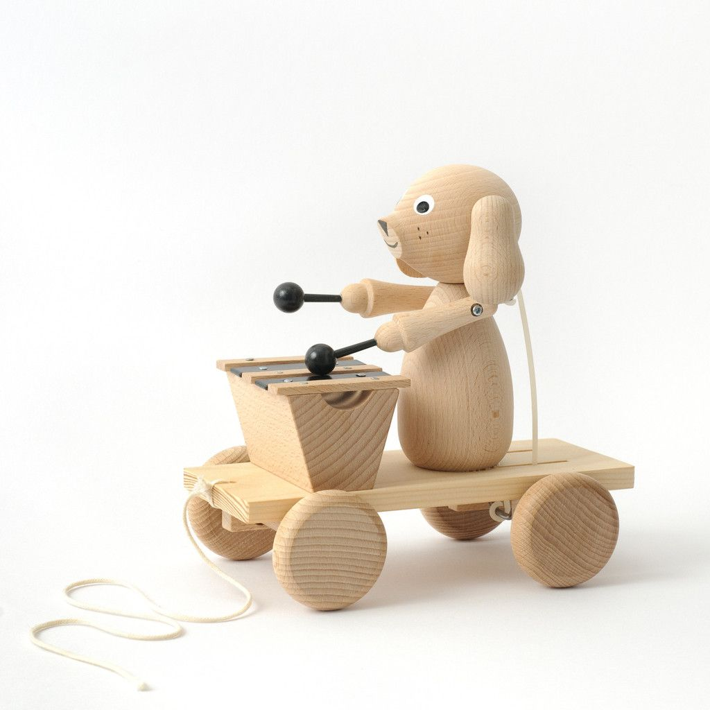 Wooden toys images  Wooden Dog with Xylophone  Scandinavian Adventure Tribal themed