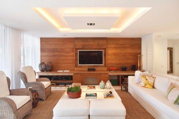 Estantes com painel de madeira  Madeira, Search and TVs