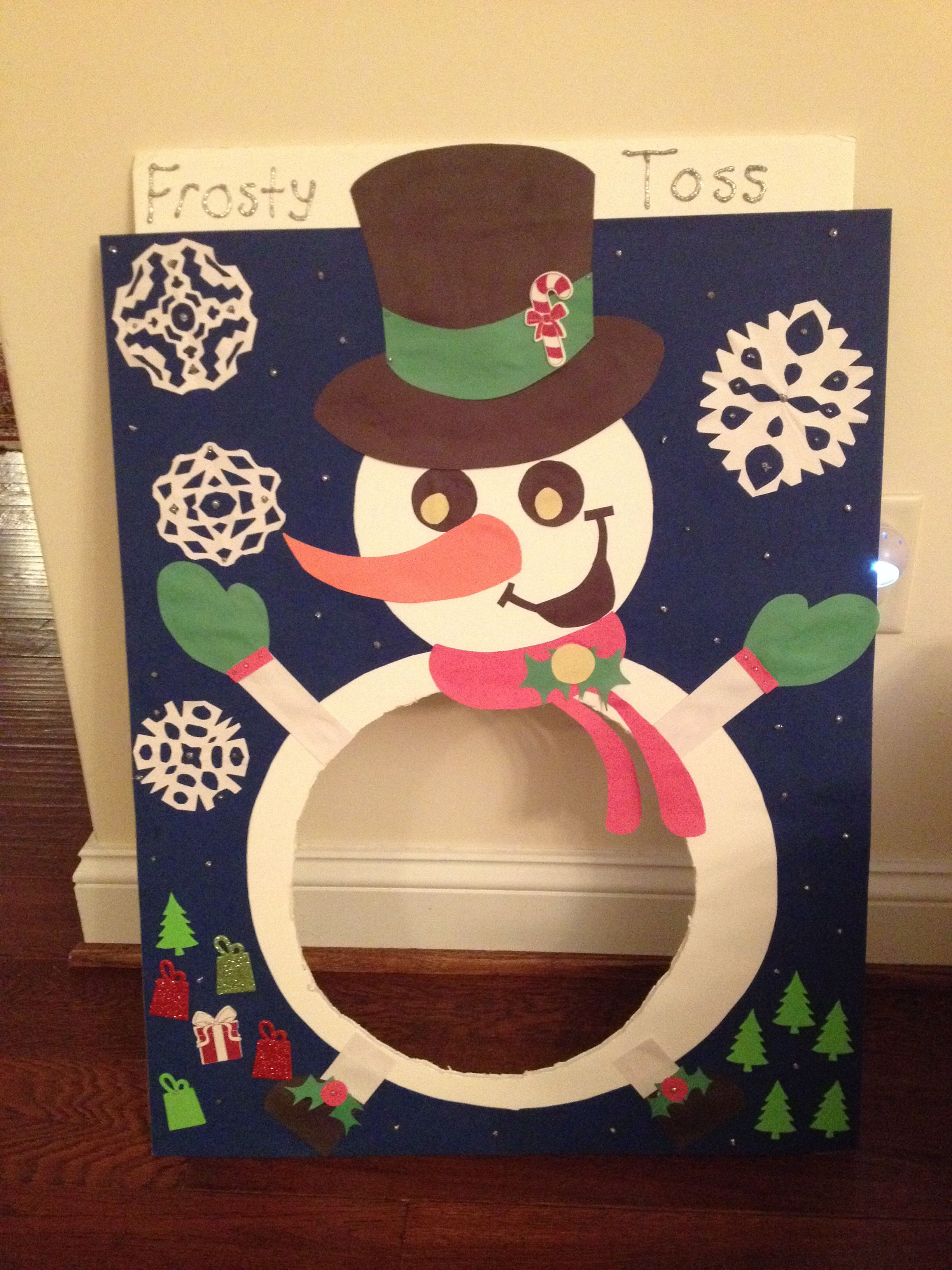 Frosty Snowball Toss For Preschool Holiday Party Idea
