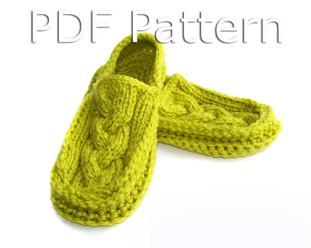 Crochet Pattern, Crochet Slipper Pattern, Knitting Pattern, Slipper ...