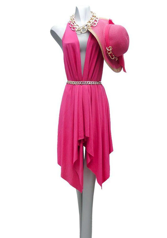 Παρεό μαντήλι φούξια. Φοριέται με πολλούς τρόπους. Ιδανικό κομμάτι για να  φορεθεί πάνω από ec51608064a