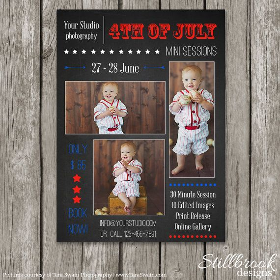 July Mini Session Template 4th Of July Independence Day Marketing