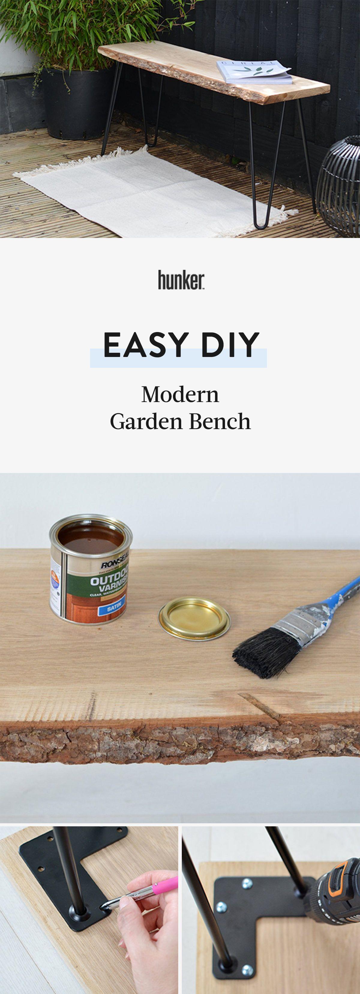 Diy modern garden bench literally anyone can do modern