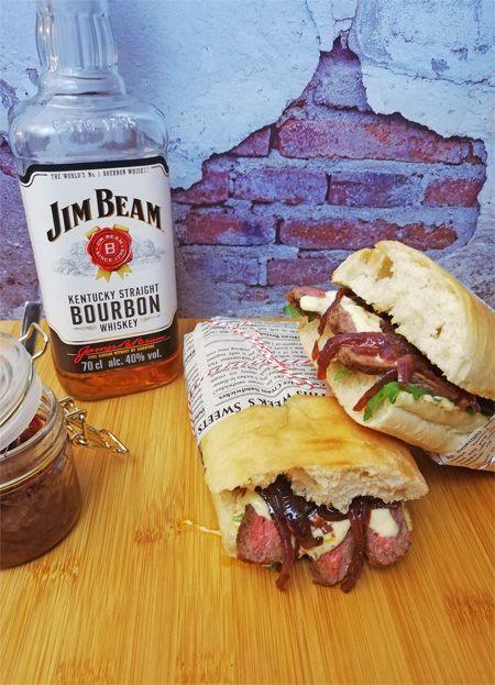 Photo of Steak Sandwich with prime rib and whiskey onion chutney –