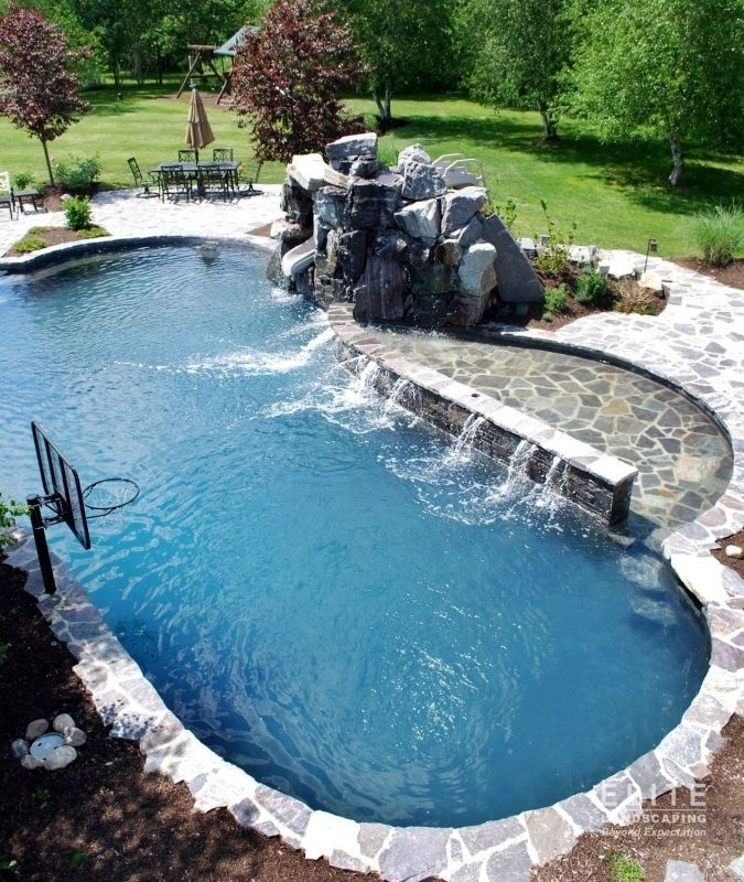 Residential Pool By Elite Landscaping 030 Pools Natural
