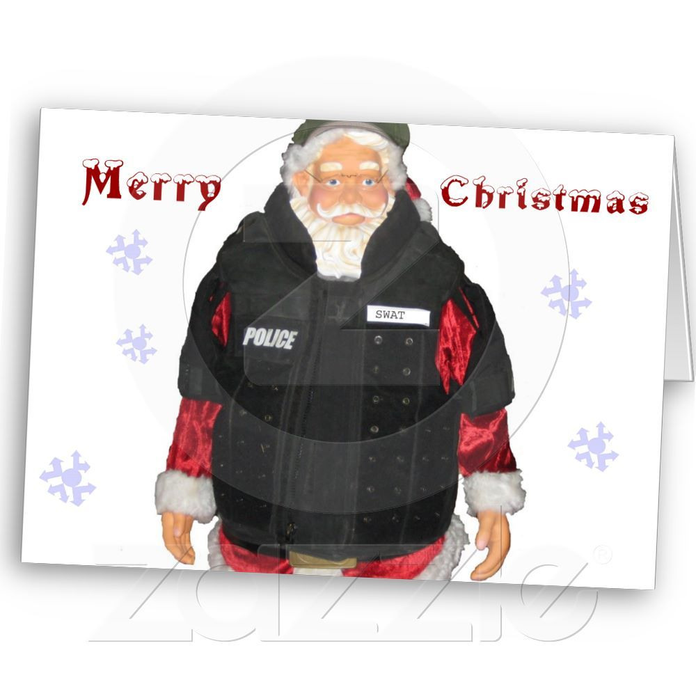 Police Santa Christmas Card | You just don\'t see that every day ...
