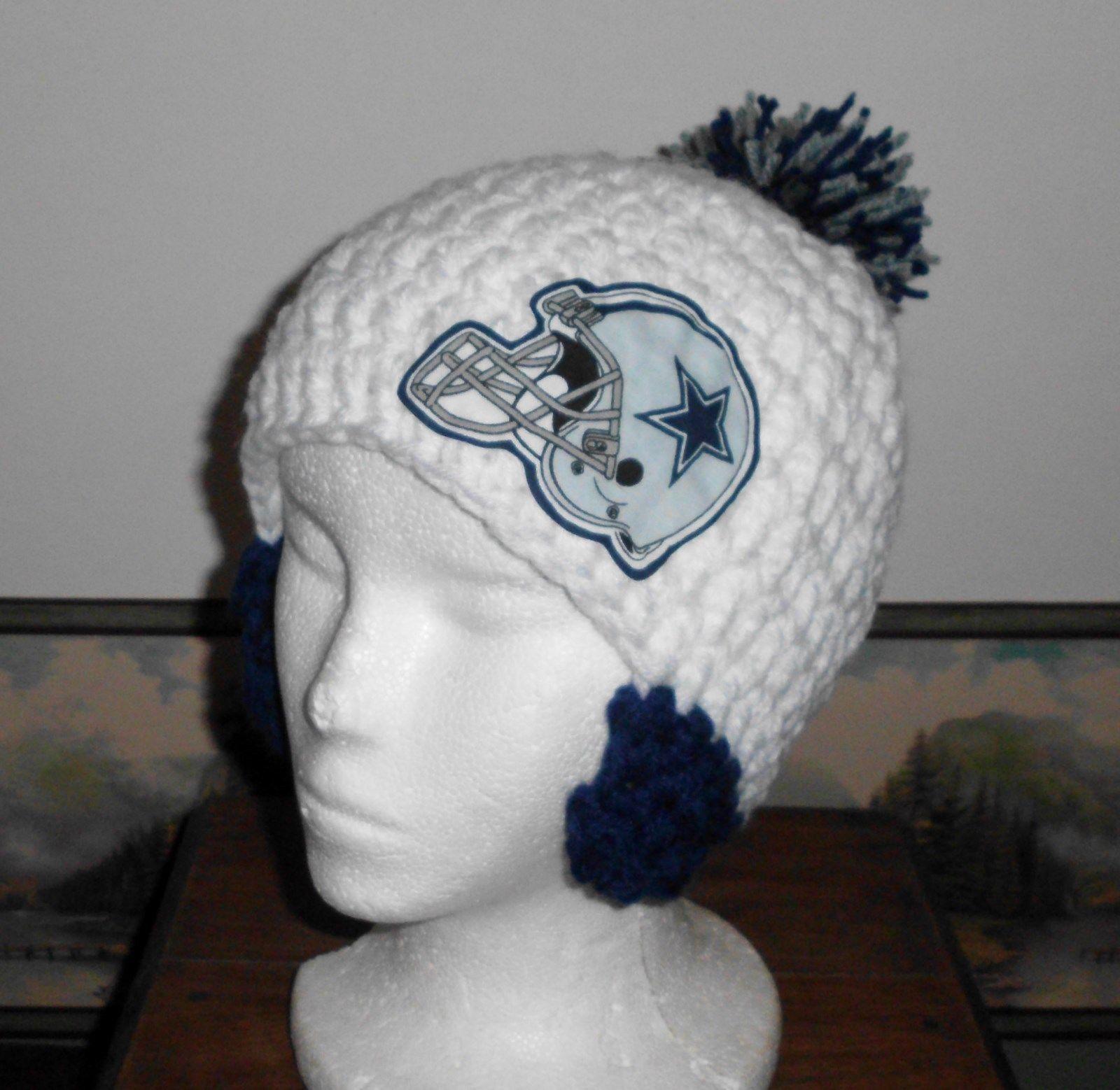 Dallas Cowboys, crochet hat, beanie, football, nfl, yarn ...