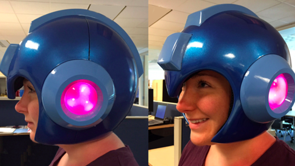 This Is It Folks Capcom Has Made An Official Wearable Mega Man Helmet Mega Man Mega Man Helmet Helmet