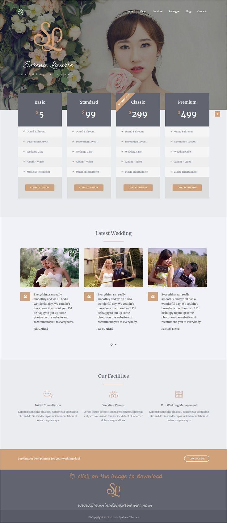 Lovus - Wedding Planner WordPress Theme | Wedding planners, Planners ...