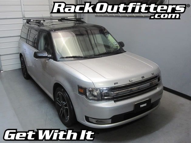 Ford Flex Thule Crossroad Square Bar Roof Rack 08 14 Roof Rack