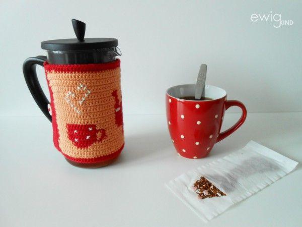 Tapestry Crochet Teekannenwärmer Häkelanleitungen Und Häkeln