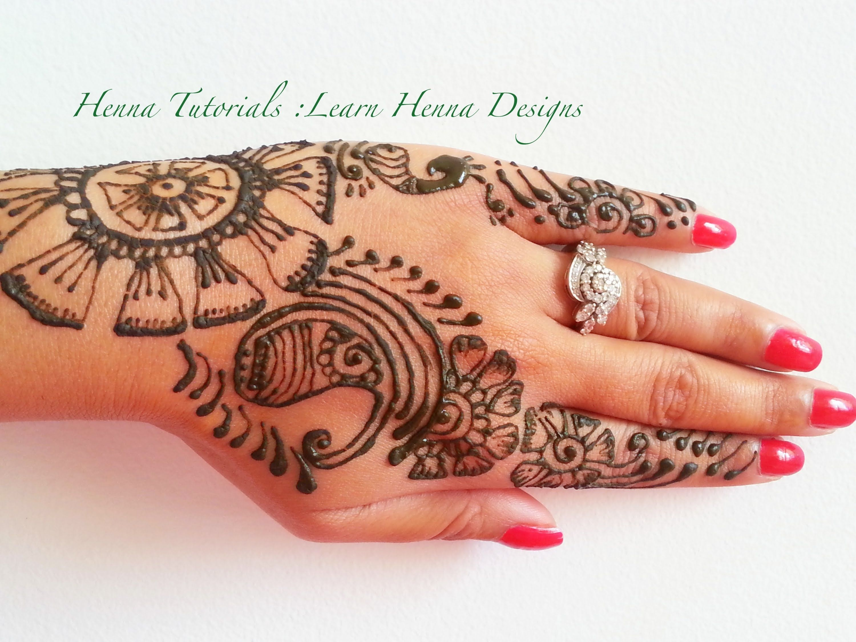 Learn Mehndi Patterns : How to make henna designs step by tutorial learn