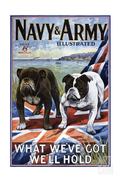 Navy and Army Illustrated Cover Giclee Print at eu.art.com