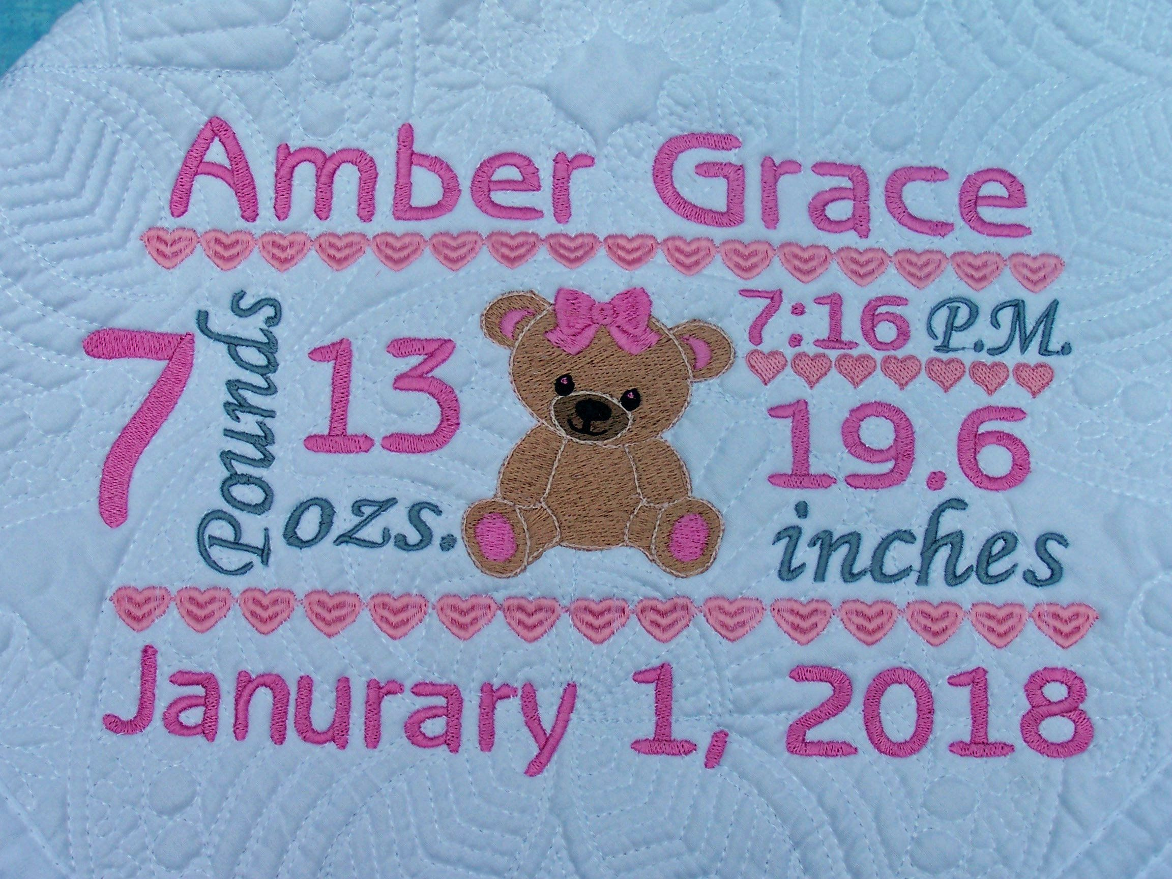 Personalized baby quilt quilt baby quilt personalized quilt personalized baby quilt quilt baby quilt personalized quilt birth announcement quilt baby blanket quilted crib blanket baby gift negle Image collections