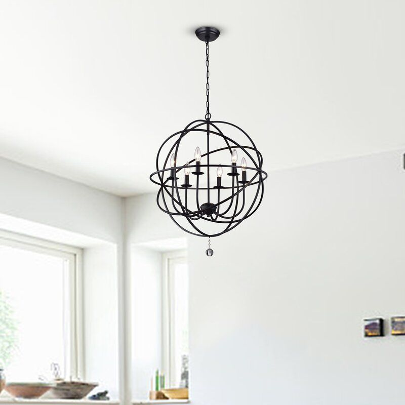 Eastbourne 6 Light Unique Statement Globe Chandelier In 2020 Globe Chandelier Statement Chandeliers Lantern Lights