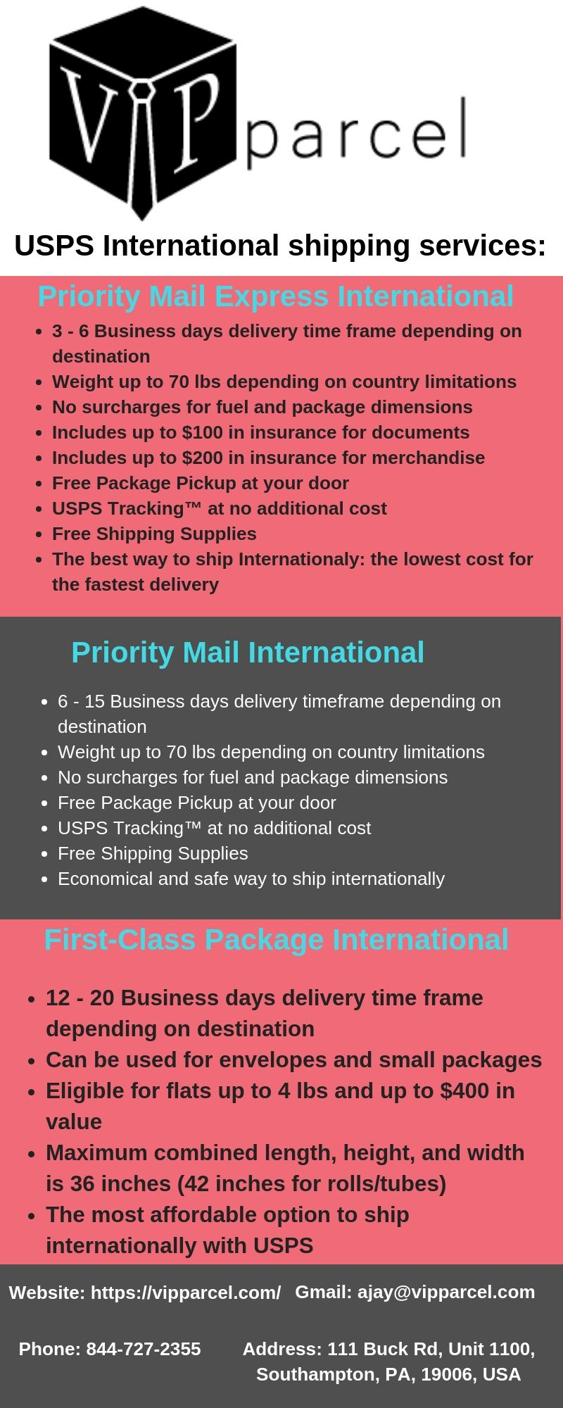 Priority Mail International - VIPparcel  VIPparcel is the