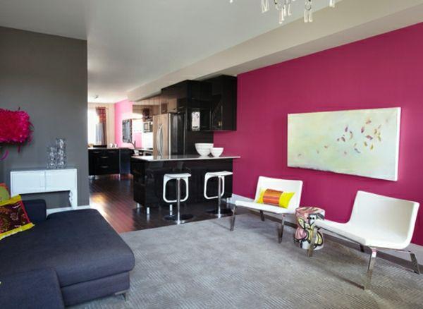 Pinke Wandfarbe u2013 Wie können Sie Ihre Wände kreativ streichen - wände streichen ideen schlafzimmer
