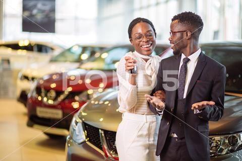 Key Car Dealership >> Visiting Car Dealership Couple Holding Key Of Their New Car