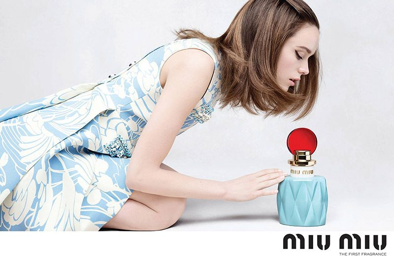 dcc4e180a15 The campaign for Miu Miu s first ever fragrance has been released with  actress Stacy Martin as its star. Photographed by Steven Meisel