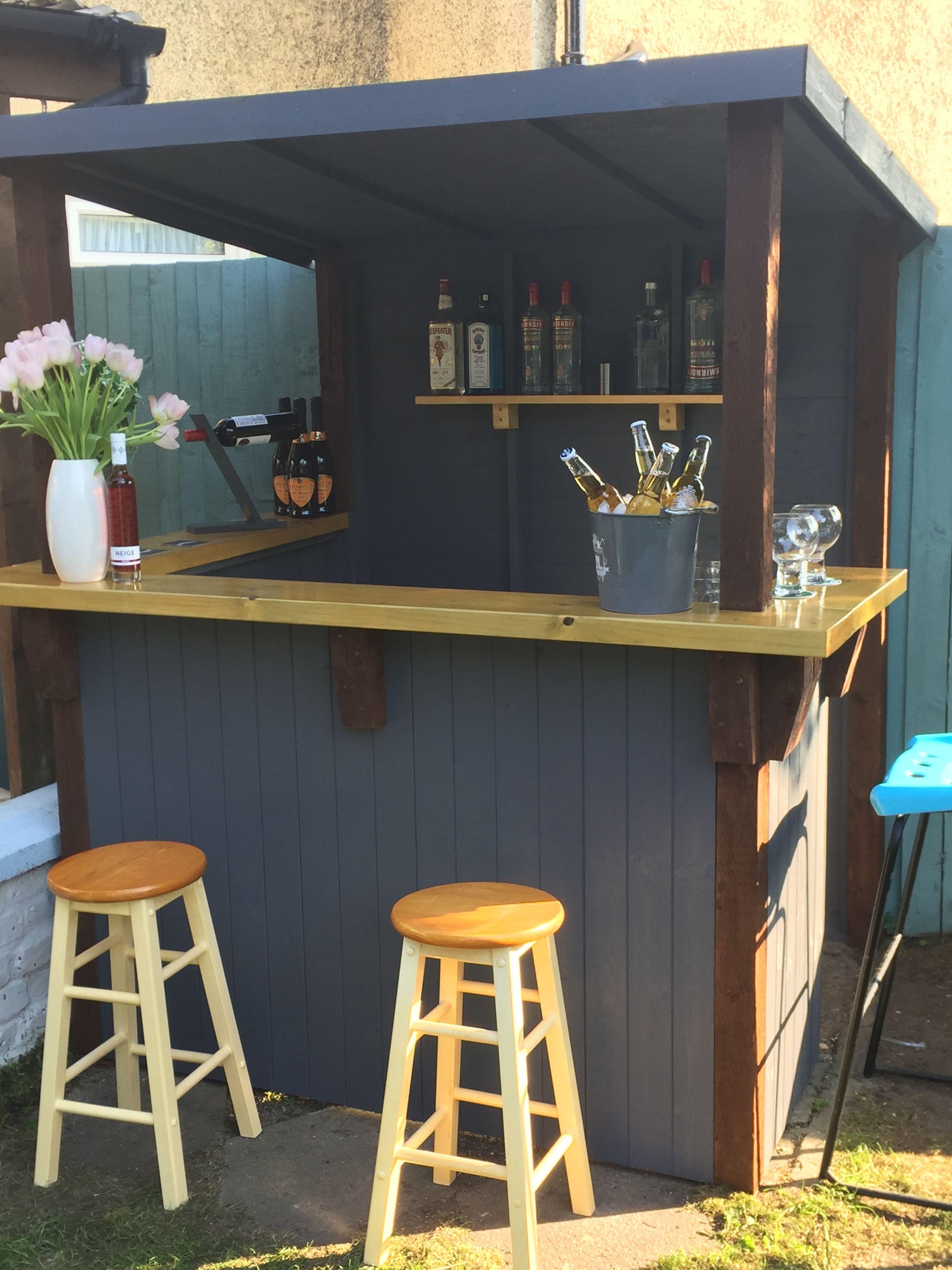 Garden Bar Made To Order Outdoor Bar Furniture Outdoor Tiki Bar Bar Shed