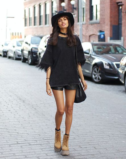 Gizele Oliveira - Nasty Gal Bag, Jeffrey Campbell Boots - Brooklyn