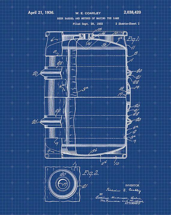 Patent print of a beer barrel patent art print by visualdesign patent print of a beer barrel patent art print by visualdesign malvernweather Gallery