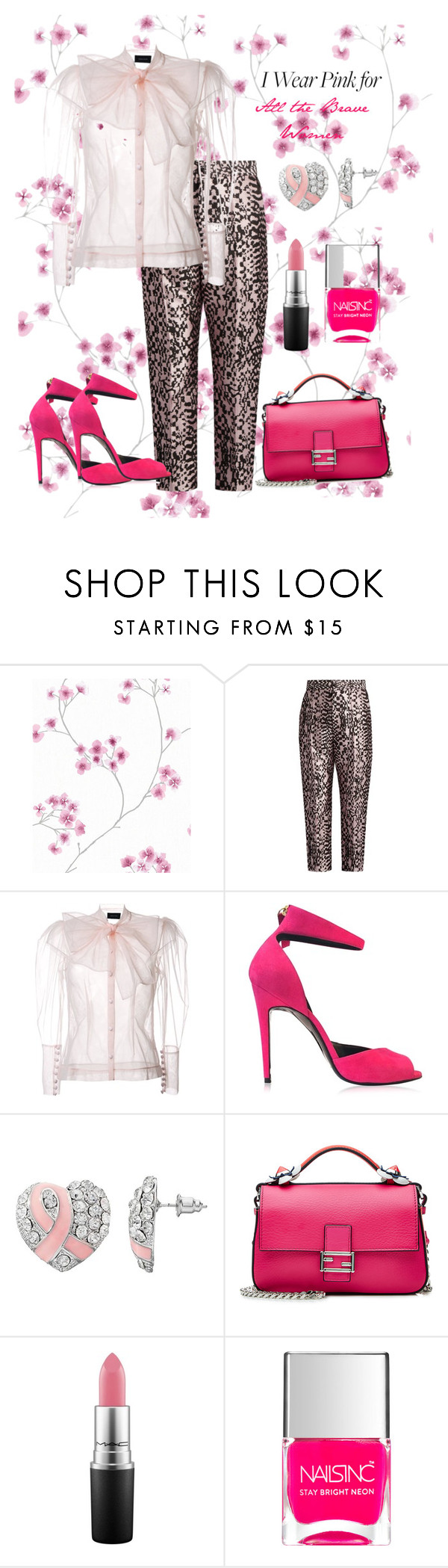 """""""To the Brave Women🌹♀🕯"""" by parnett ❤ liked on Polyvore featuring Haider Ackermann, Simone Rocha, Pierre Hardy, Fendi, MAC Cosmetics, Nails Inc. and IWearPinkFor"""