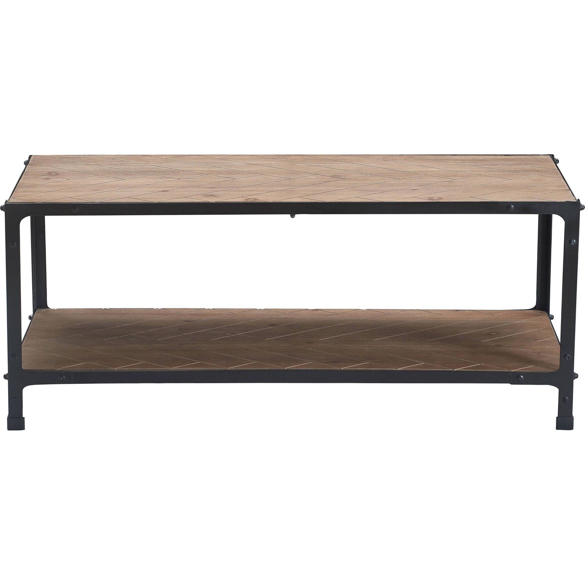 Farmhouse Coffee Table Wood And Black Metal Truly Home Brown In 2020 Barrel Coffee Table Brass Coffee Table Modern Coffee Tables