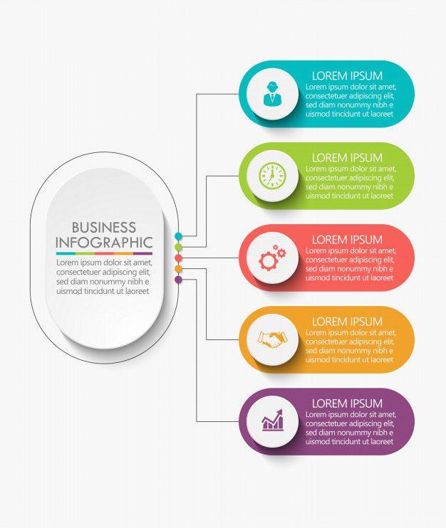 Visualización de datos empresariales  Premium Vector