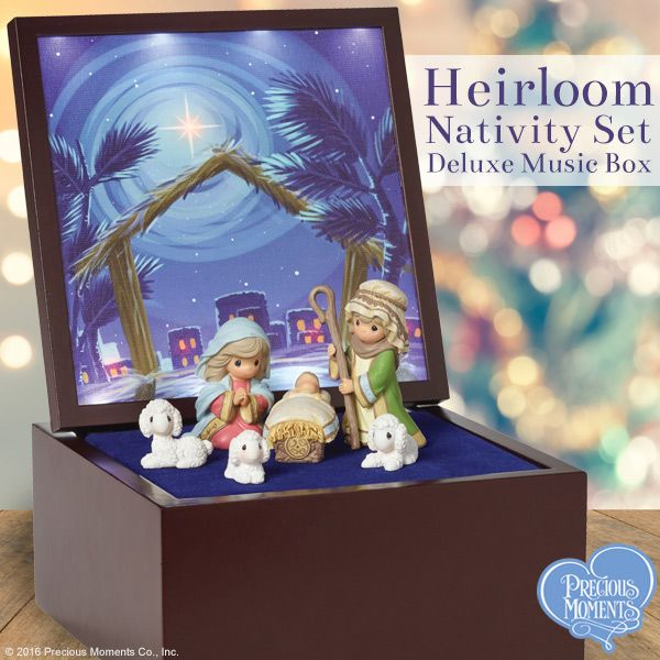 Heirloom Nativity Set Deluxe Music Box\u201d, LED Stars Board games