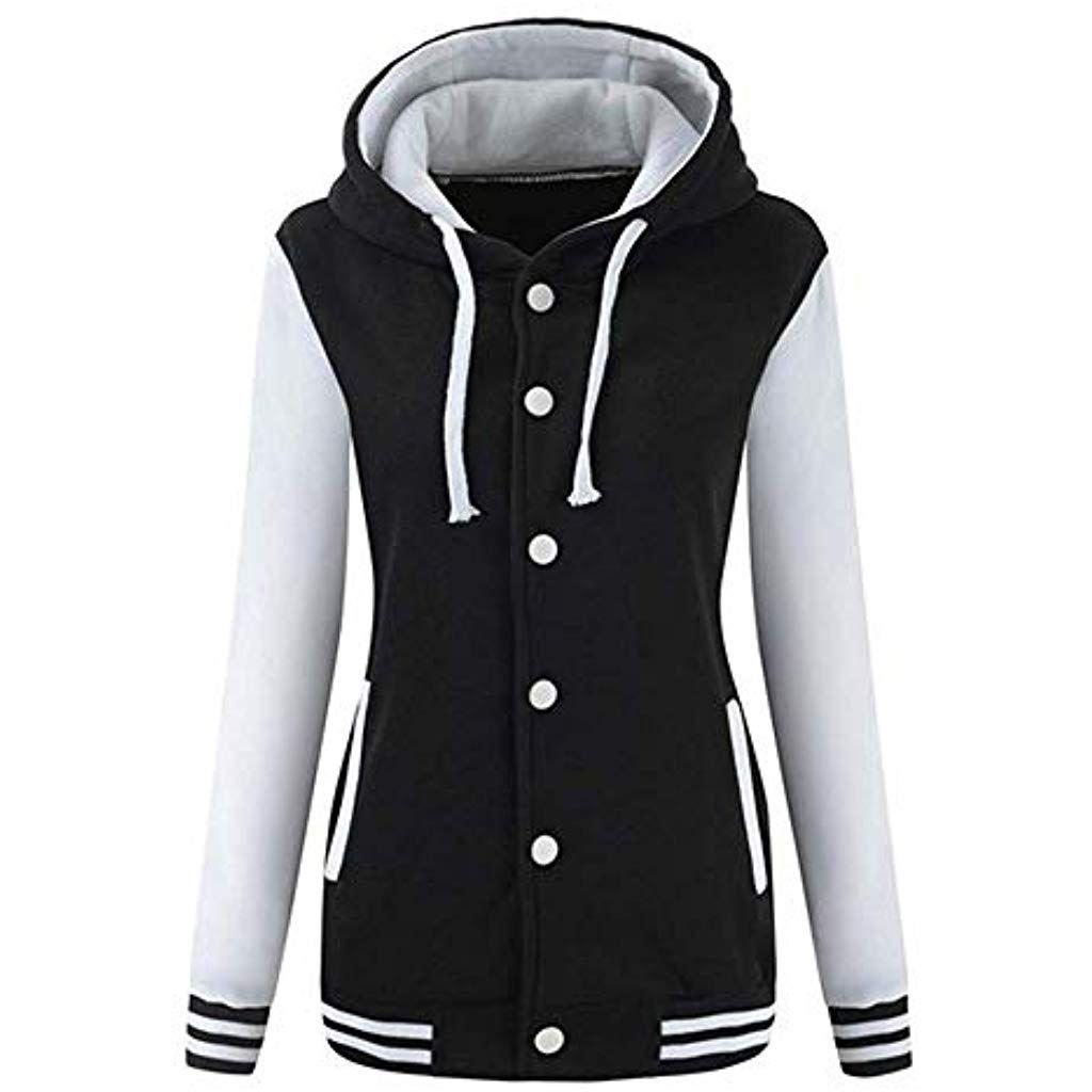 Damen Winter Jacke Hoodie Mantel Kapuzen Pullover Sweats geschenk Gr.S,M,L