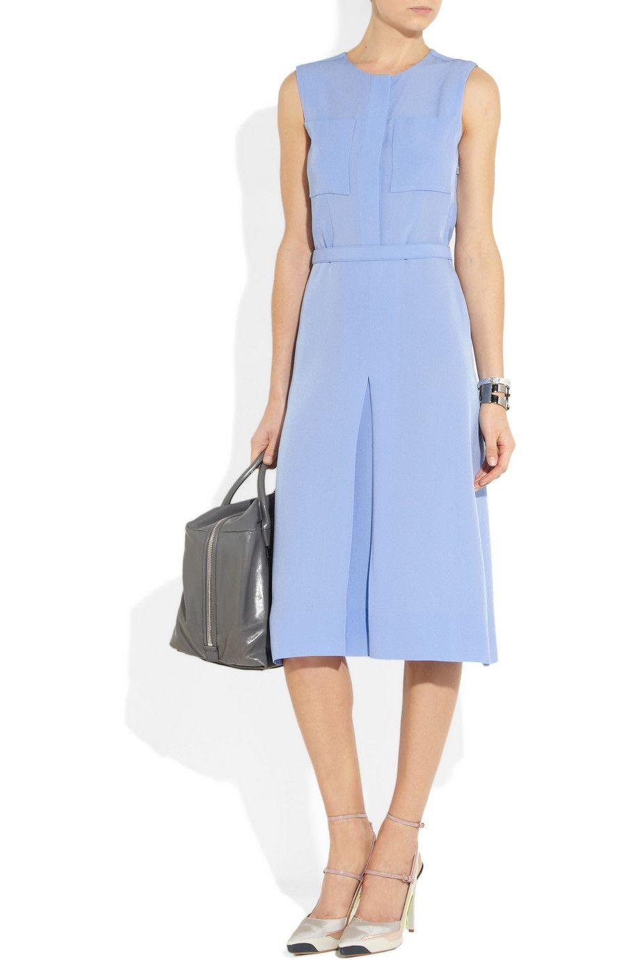 Victoria Victoria Beckham Crepe Midi Dress Net A Porter Com Dresses Successful Clothes Victoria Dress [ 1380 x 920 Pixel ]
