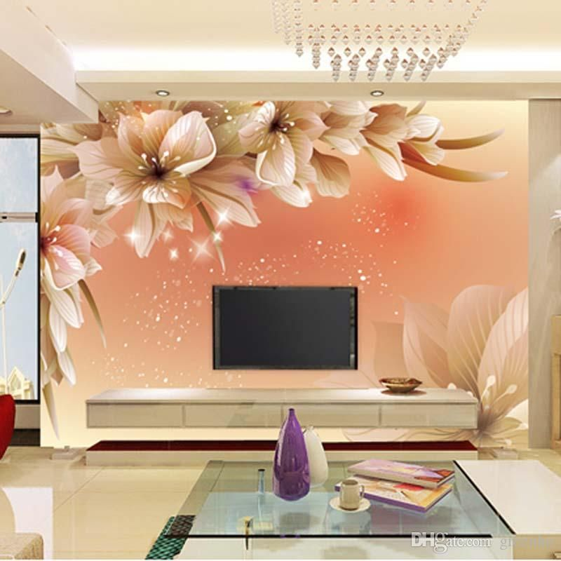 Custom Luxury Wallpaper Elegant Flowers Photo Wallpaper Silk