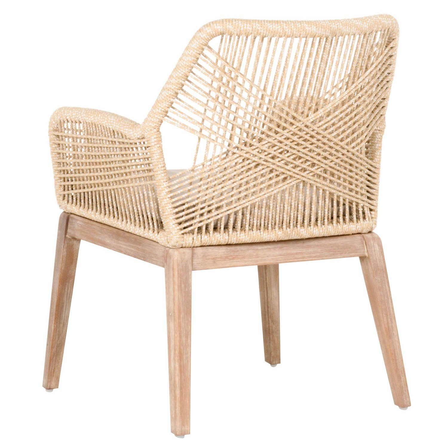 Photo of Lomis Light Sand Rope Dining Arm Chair (SET OF 2)