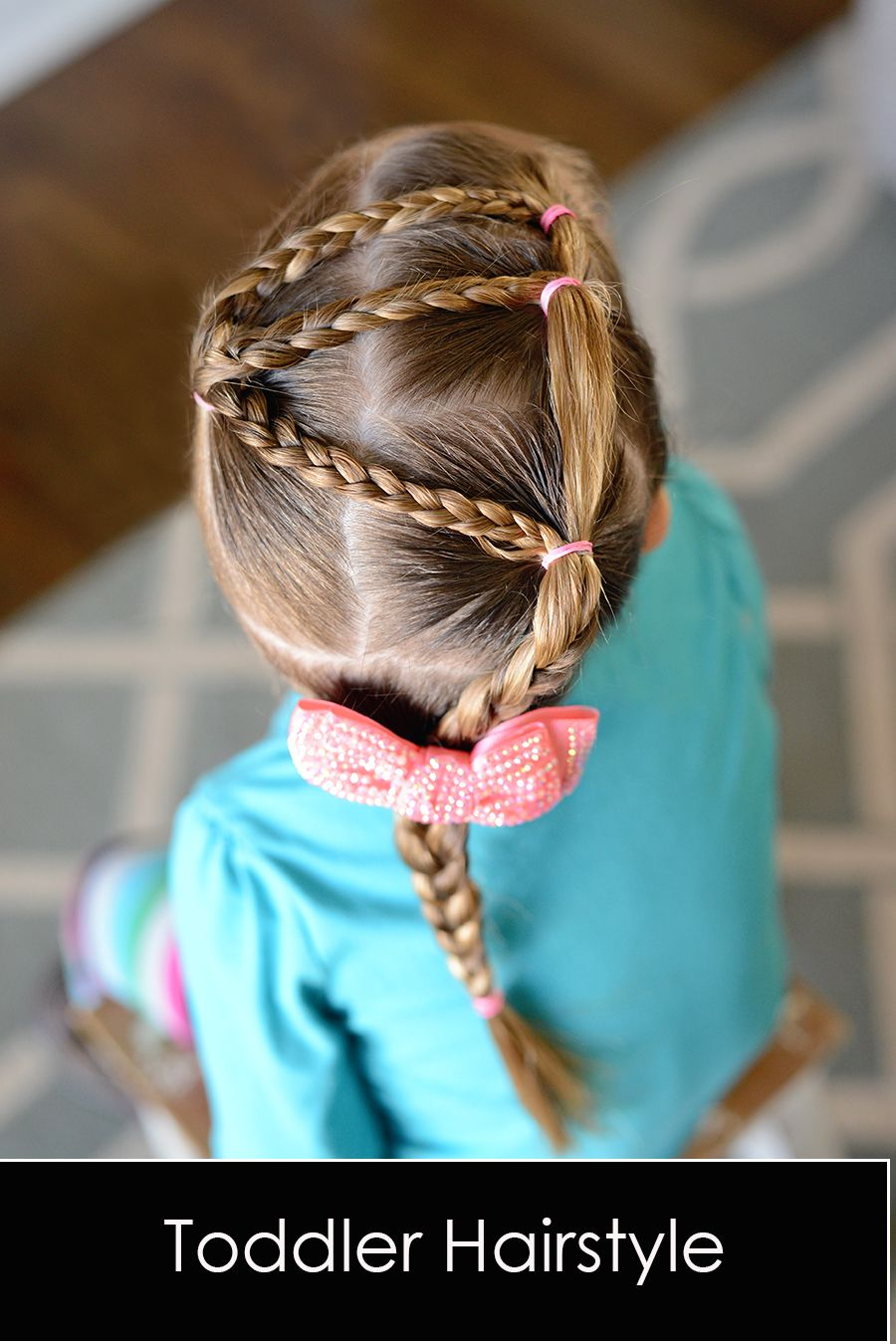 Cute toddler hairstyle for little girls with fine or short hair