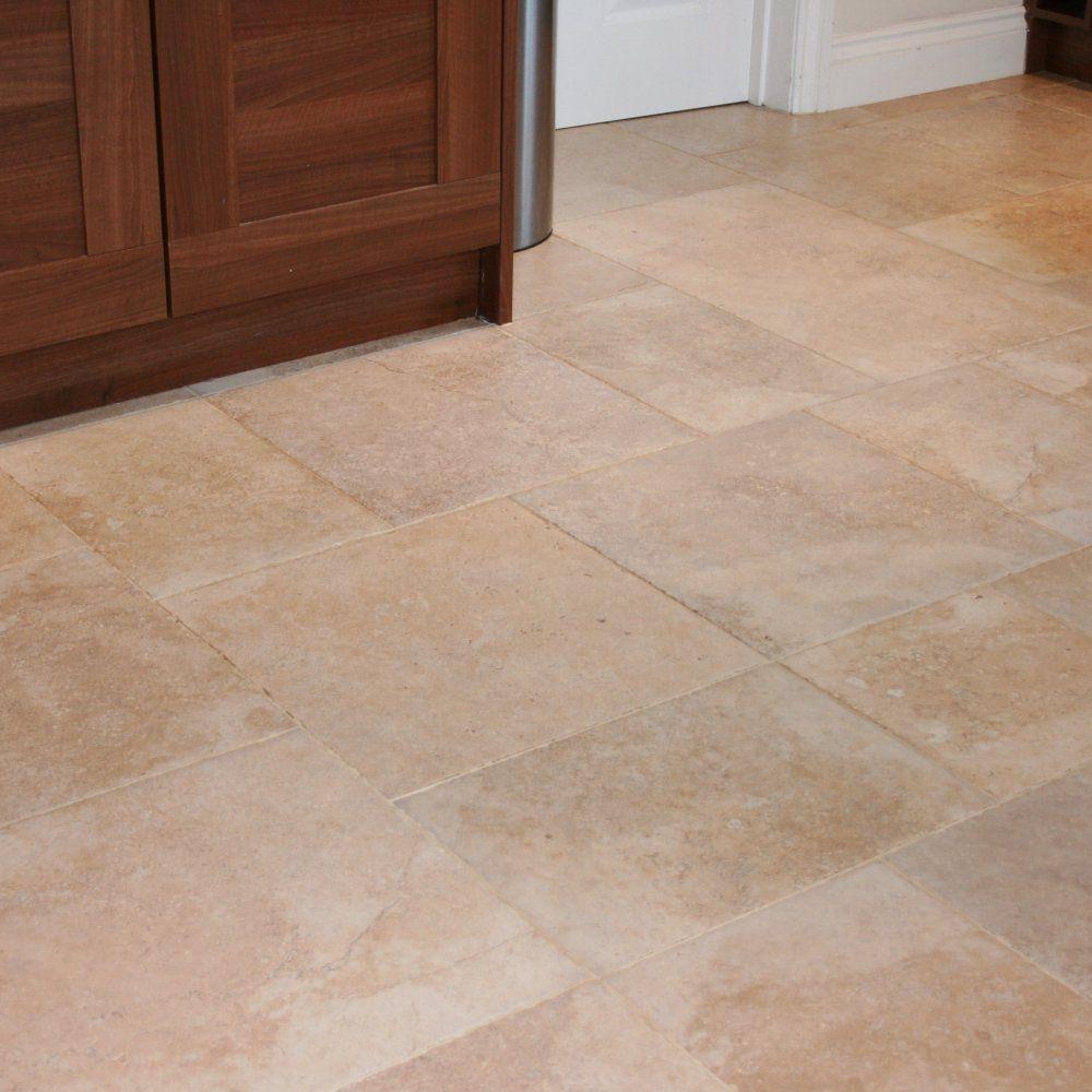 Glazed porcelain tile for kitchen floor