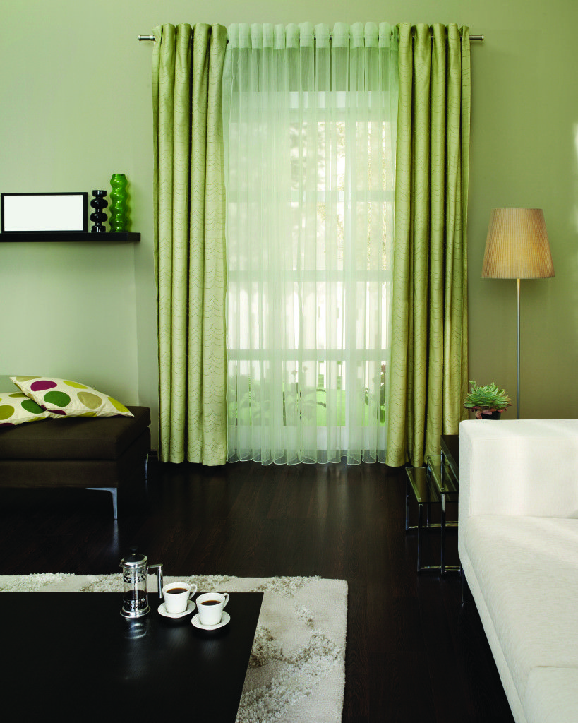 Color Spotlight Green Five Star Painting Green Curtains Home Decor