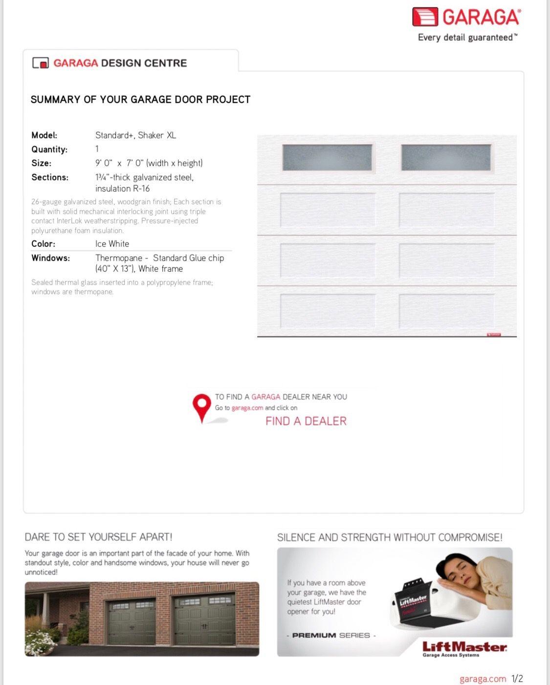Garage Doors And Floors White Windows White Frame