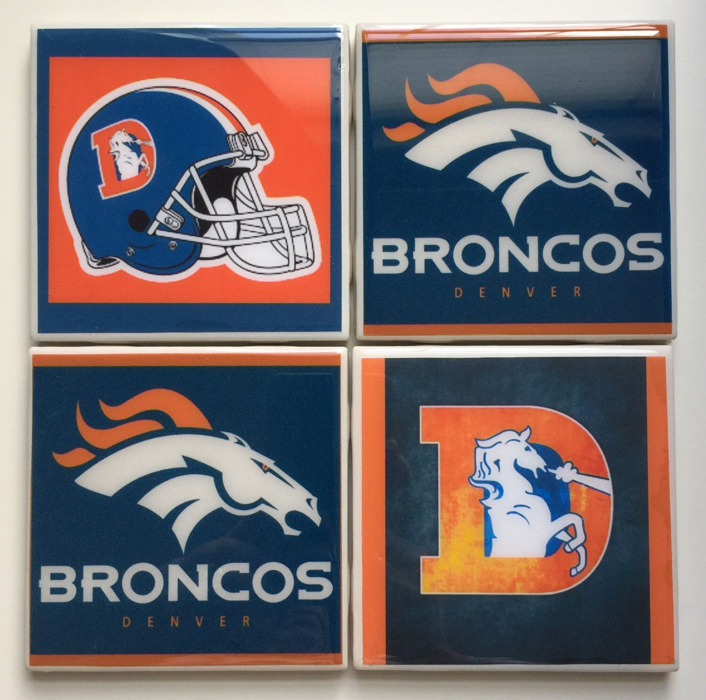 Denver broncos set of 4 ceramic tile resin coasters by denver broncos set of 4 ceramic tile resin coasters by artsypallets on etsy https dailygadgetfo Images
