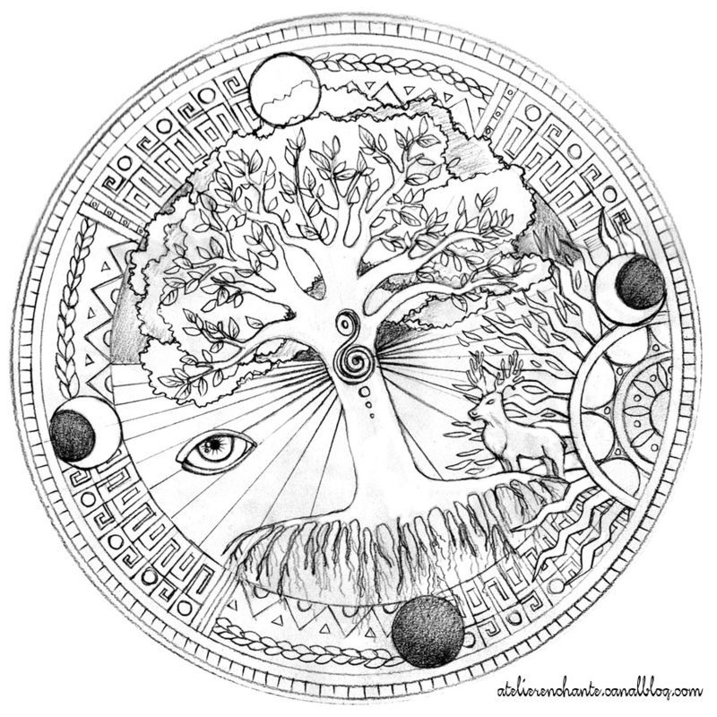 Coloriage A Imprimer Arbre De Vie.Mandalas Animaux 39 Mandalas Coloriages A Imprimer