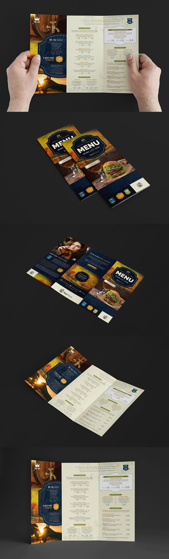 Colorful Pub Menu Template Inspiration - Example Resume and Template ...
