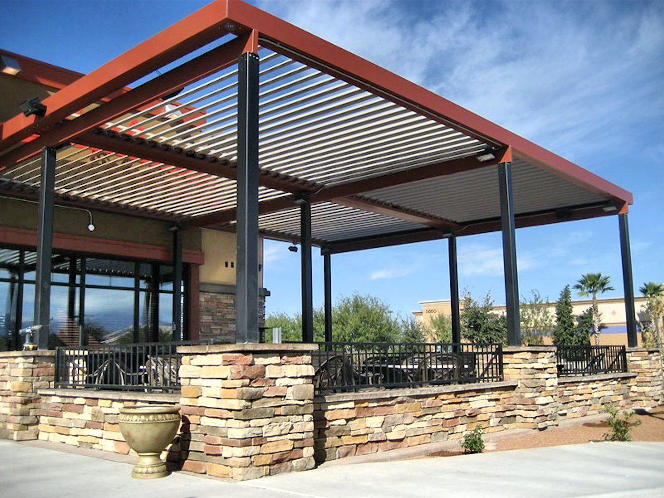 Louvered Roof Commercial Trusted Builder Of Screen Patio Enclosures