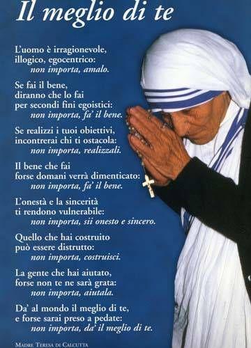 Madre Teresa Di Calcutta Citazioni Citazioni Religiose E