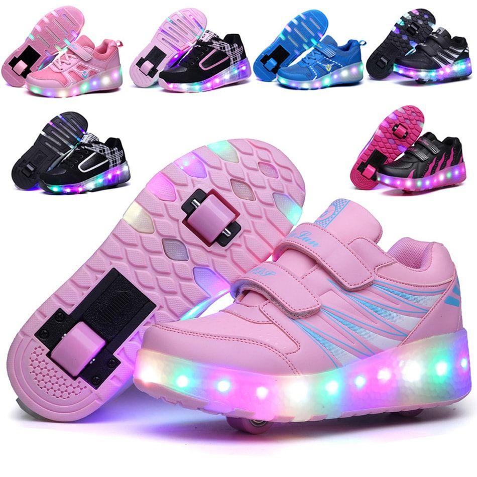 K-SEVEN Kids Wheels Sneaker Roller Skate Shoes for Girls Boys Children