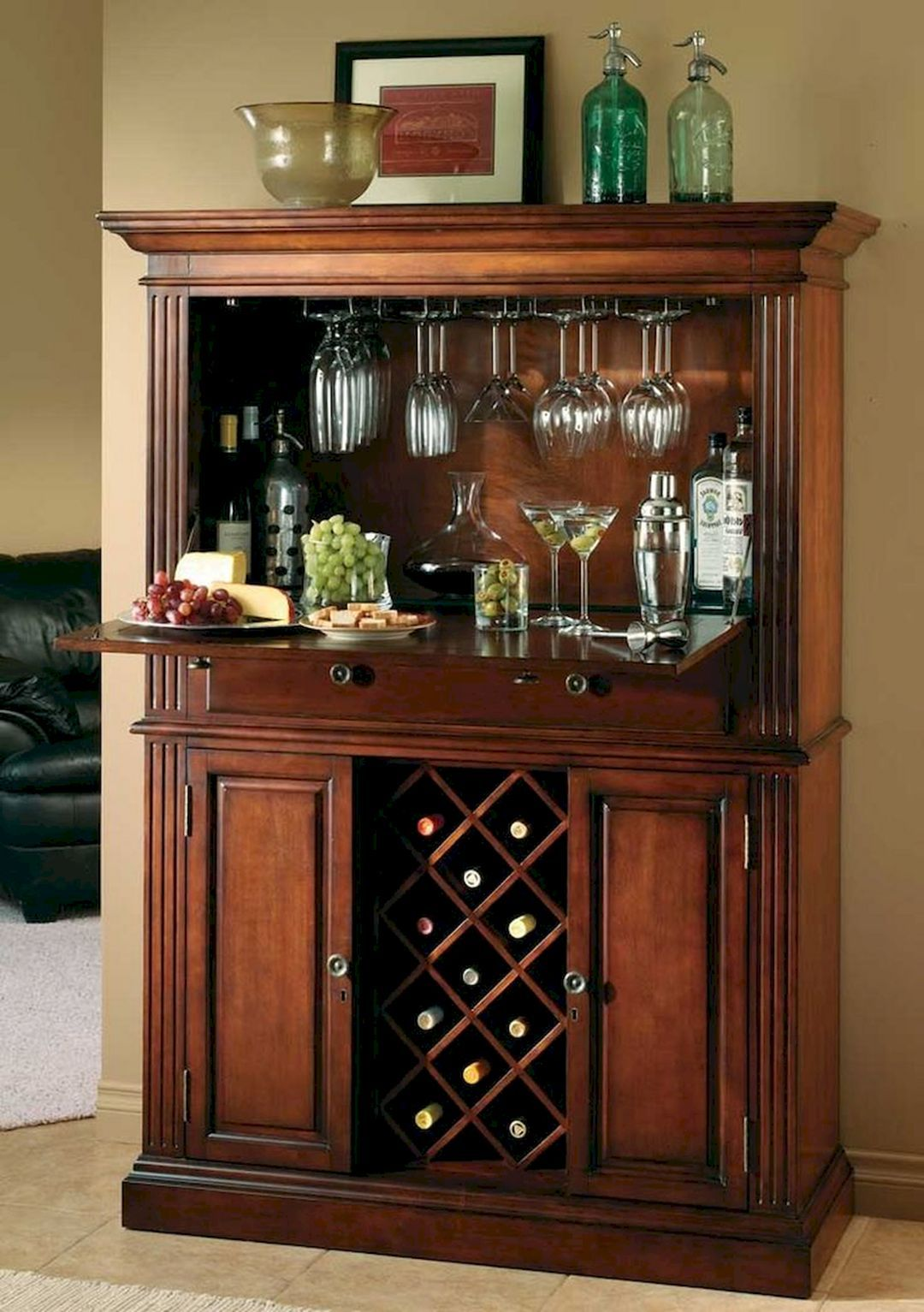20 Gorgeous Small Corner Wine Cabinet Ideas For Home Look More Beautiful Wine Furniture Wine Cabinets Corner Wine Cabinet